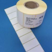 Rollenhaftetiketten 50x23mm für Thermotransferdruck