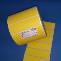Rollenhaftetiketten 100x30mm gelb